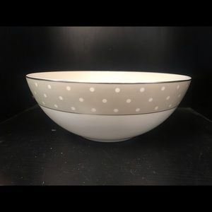 Kate Spade By Lenox White/ Gray and White dots